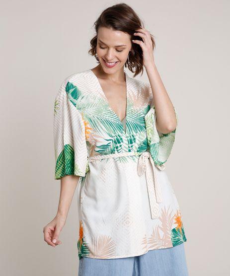 Kimono-Feminino-Estampado-de-Folhagem-com-Faixa-para-Amarrar-Off-White-9681379-Off_White_1