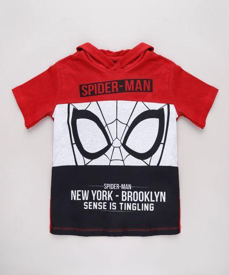 Camiseta-Infantil-Homem-Aranha-com-Capuz-Manga-Curta-Vermelha-9621736-Vermelho_1