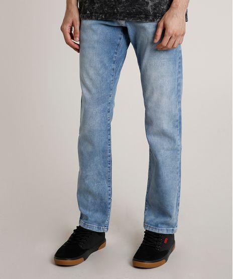 Calca-Jeans-Masculina-Reta-com-Puidos-Azul-Claro-9776597-Azul_Claro_1