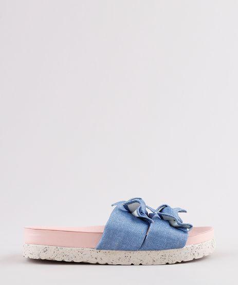 Rasteira-Jeans-Infantil-Molekinha-com-Laco-Azul-Medio-9824892-Azul_Medio_1