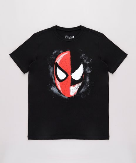 Camiseta-Infantil-Homem-Aranha-Venom-Manga-Curta-Preta-9730856-Preto_1