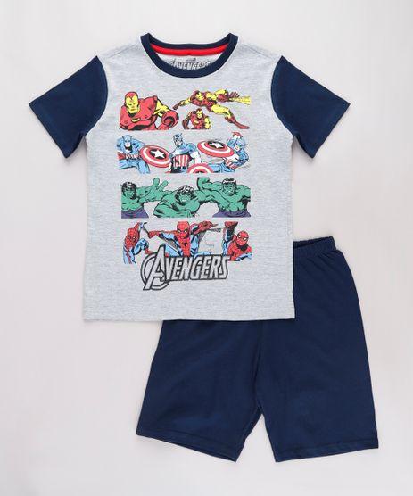 Pijama-Infantil-Os-Vingadores-Manga-Curta-Cinza-Mescla-9762293-Cinza_Mescla_1