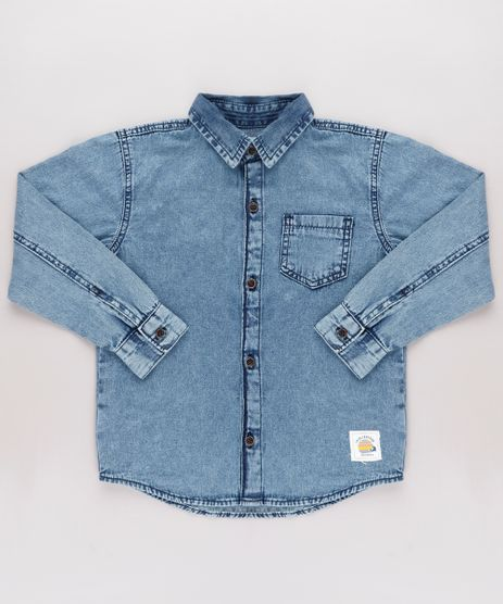 Camisa-Jeans-Infantil-com-Bolso-Manga-Longa-Azul-Medio-9761850-Azul_Medio_1