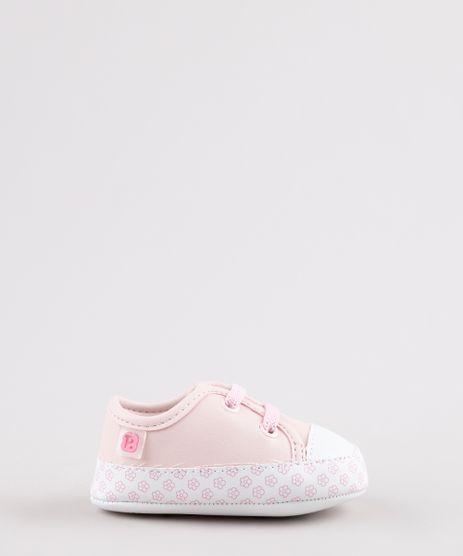 Tenis-Jeans-Infantil-Pimpolho-com-Estampa-Floral-Rosa-Claro-9798576-Rosa_Claro_1