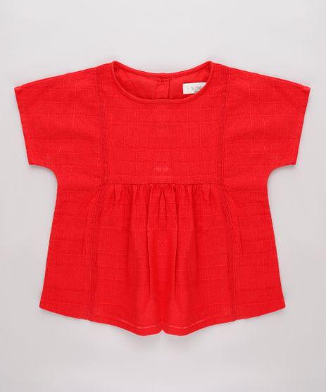 Blusa-Infantil-Texturizada-Manga-Curta-Vermelha-9675669-Vermelho_1