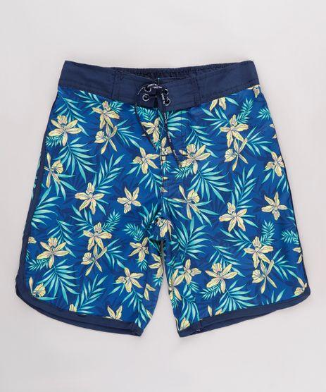 Bermuda-Surf-Infantil-Estampada-Floral-Tropical-Azul-Marinho-9667428-Azul_Marinho_1