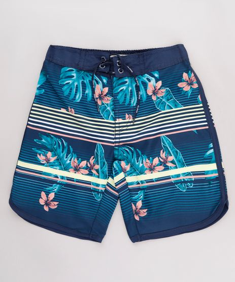 Bermuda-Surf-Infantil-Listrada-com-Flores-Azul-Marinho-9667432-Azul_Marinho_1