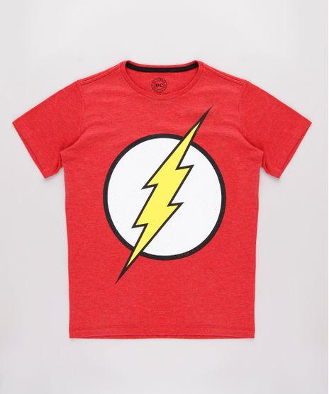Camiseta-Infantil-The-Flash-Manga-Curta-Vermelha-9710457-Vermelho_1