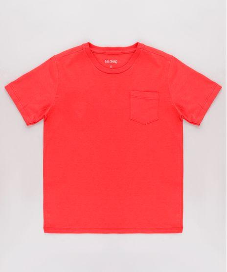 Camiseta-Infantil-Basica-com-Bolso-Manga-Curta-Vermelha-Claro-9567186-Vermelho_Claro_1