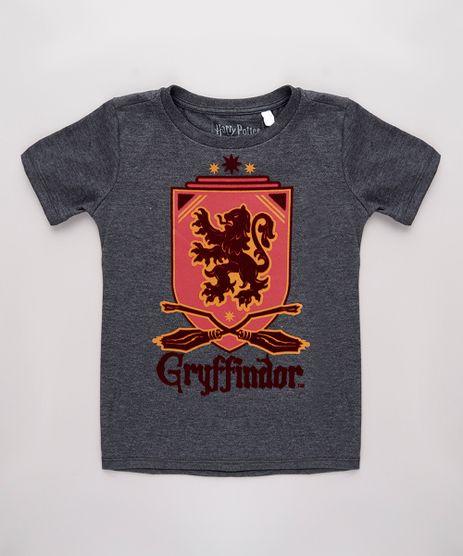 Camiseta-Infantil-Harry-Potter-Grifinoria-Manga-Curta-Cinza-Mescla-Escuro-9818720-Cinza_Mescla_Escuro_1