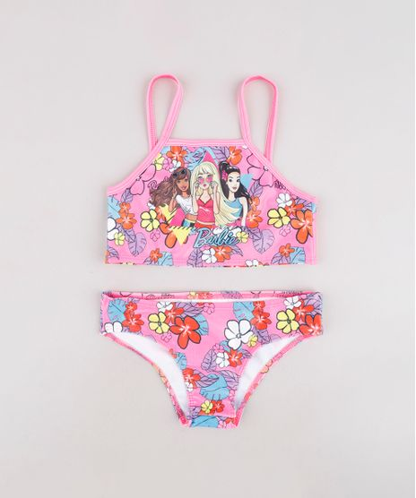 Biquini-Infantil-Barbie-Estampado-Floral-Protecao-UV50--Rosa-9740730-Rosa_1