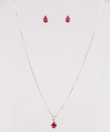 Kit-de-Brinco---Colar-Femininos-Folheados-com-Pedra-Zirconia-Prateado-9778172-Prateado_1
