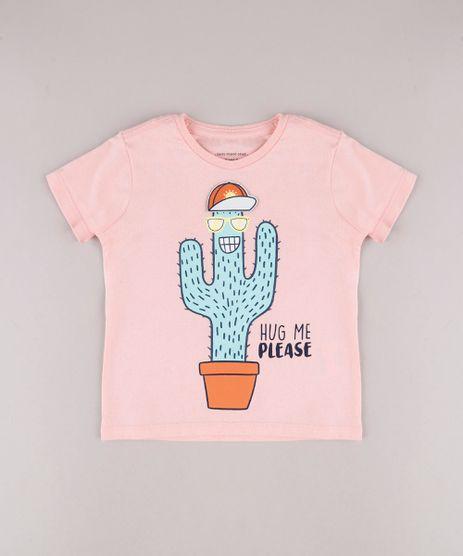 Camiseta-Infantil-com-Estampa-Interativa-de-Cacto-Manga-Curta-Rosa-Claro-9755328-Rosa_Claro_1
