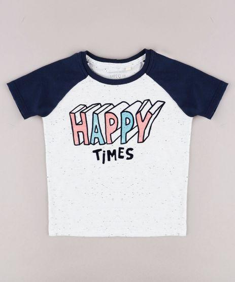 Camiseta-Infantil-Raglan--Happy-Times--Manga-Curta-Off-White-9755330-Off_White_1