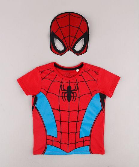 Camiseta-Infantil-Homem-Aranha-Manga-Curta---Mascara-Vermelha-9733924-Vermelho_1