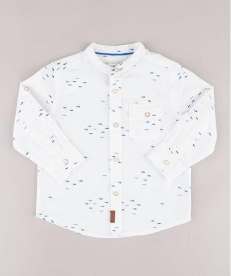 Camisa-Infantil-Estampada-de-Peixe-com-Bolso-Manga-Longa-Gola-Padre-Off-White-9670873-Off_White_1