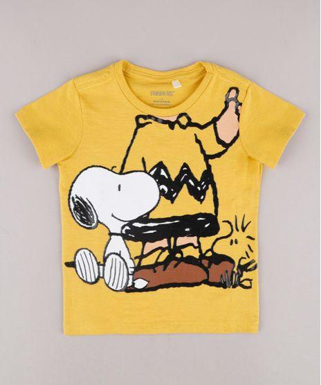 Camiseta-Infantil-Turma-do-Snoopy-Manga-Curta-Amarela-9730455-Amarelo_1