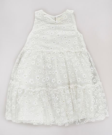 Vestido-Infantil-em-Tule-Estampado-Floral-com-Glitter-Sem-Manga-Off-White-9682144-Off_White_1