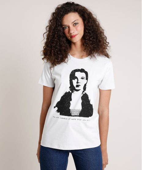 T-Shirt-Feminina-Mindset-Dorothy-O-Magico-de-Oz-Manga-Curta-Decote-Redondo-Cinza-Claro-9843836-Cinza_Claro_1
