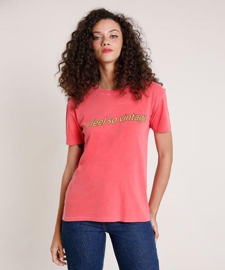 T-Shirt-Feminina-Mindset--I-Feel-So-Vintage--Manga-Curta-Decote-Redondo-Vermelha-Claro-9846896-Vermelho_Claro_1