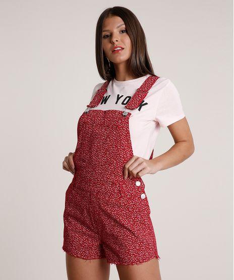 Jardineira-de-Sarja-Feminina-Relaxed-Estampada-Floral--Vermelha-Escuro-9811486-Vermelho_Escuro_1