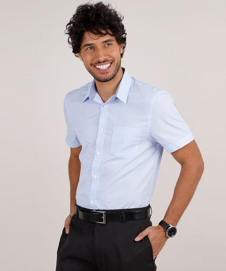 Camisa-Masculina-Social-Comfort-com-Bolso-Manga-Curta-Azul-Claro-9639457-Azul_Claro_1