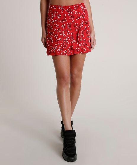 Saia-Feminina-Curta-Transpassada-Estampada-Floral-com-Babados-Vermelha-9792922-Vermelho_1
