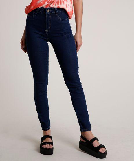 Calca-Jeans-Feminina-Sawary-Super-Skinny-Cintura-Alta-Azul-Escuro-9820350-Azul_Escuro_1