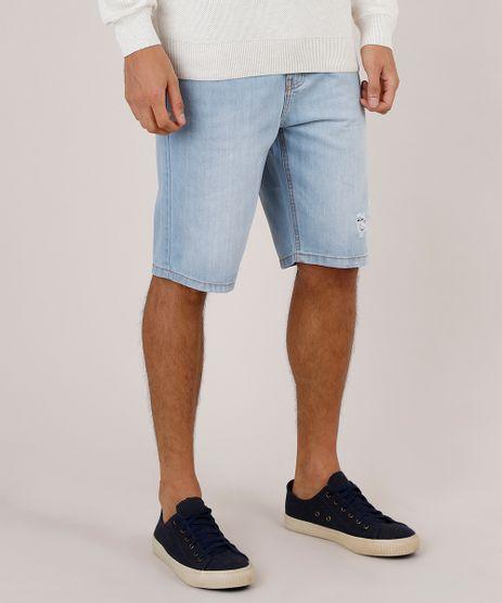 Bermuda-Jeans-Masculina-Slim-com-Rasgos--Azul-Claro-9771348-Azul_Claro_1