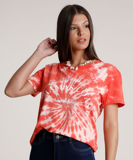 Blusa-Feminina-Estampada-Tie-Dye-Manga-Curta-Decote-Redondo-Vermelha-9791747-Vermelho_1