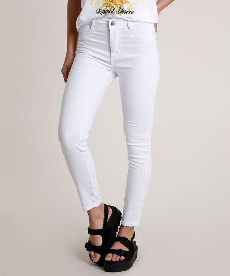 Calca-de-Sarja-Feminina-Sawary-Skinny-Cigarrete-Cintura-Super-Alta-Branca-9775667-Branco_1