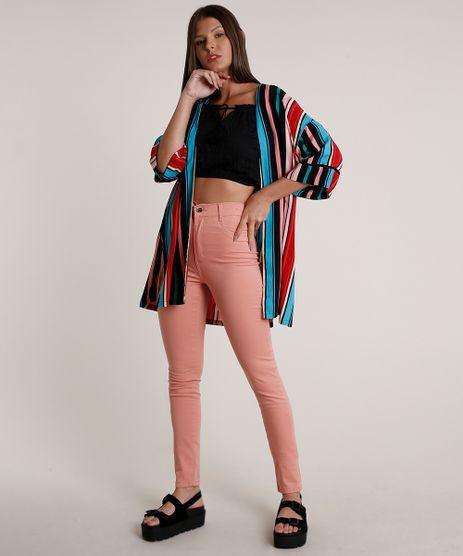 Calca-de-Sarja-Feminina-Sawary-Super-Skinny-Cintura-Super-Alta-Rose-9820349-Rose_3