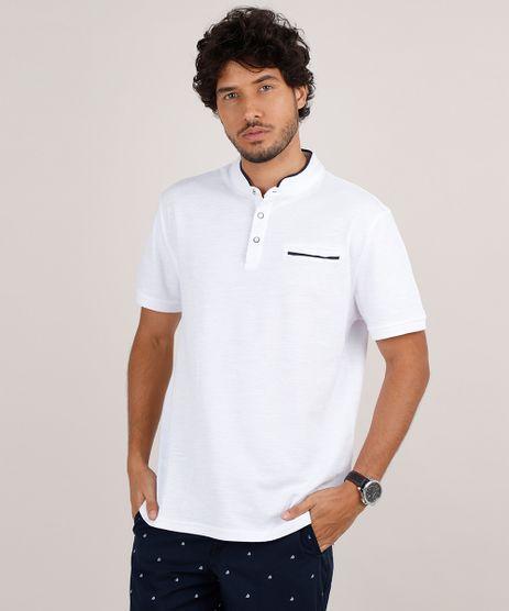 Polo-Masculina-Comfort-em-Piquet-com-Bolso-Manga-Curta-Gola-Padre-Branca-9650502-Branco_1