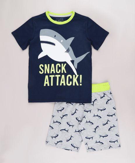 Pijama-Infantil-Tubarao--Snack-Attack---Manga-Curta-Azul-Marinho-9751952-Azul_Marinho_1