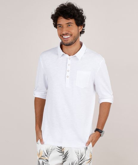 Polo-Masculina-Comfort-com-Bolso-Manga-Longa-Branca-9650504-Branco_1