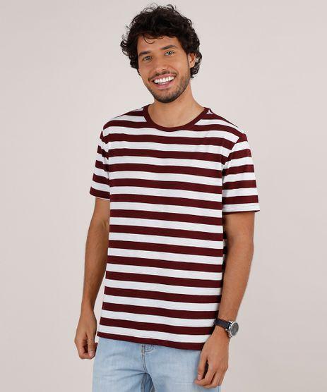Camiseta-Masculina-Basica-Listrada-Manga-Curta-Gola-Careca-Branca-9776627-Branco_1