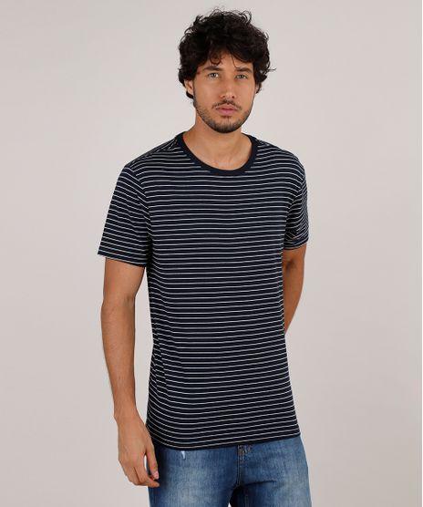 Camiseta-Masculina-Basica-Listrada-Manga-Curta-Gola-Careca-Azul-Marinho-9776629-Azul_Marinho_1