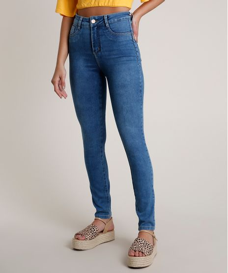 Calca-Jeans-Feminina-Sawary-Super-Skinny-Cintura-Alta-Azul-Medio-9820352-Azul_Medio_1