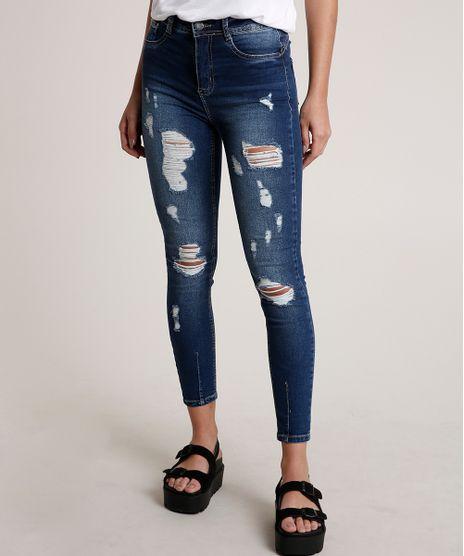 Calca-Jeans-Feminina-Sawary-Cigarrete-Cintura-Media-Destroyed-Azul-Escuro-9835995-Azul_Escuro_1