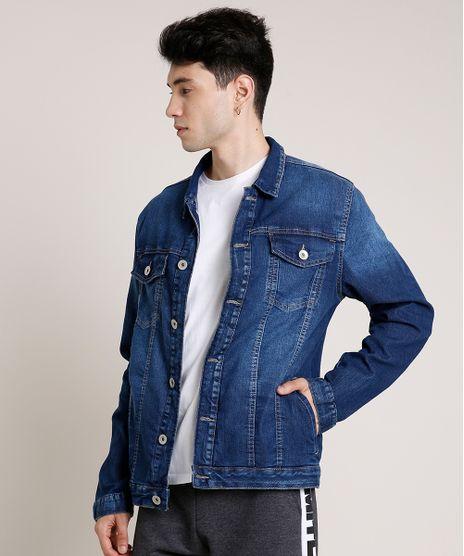 Jaqueta-Jeans-Masculina-com-Bolsos-Azul-Escuro-9779285-Azul_Escuro_1