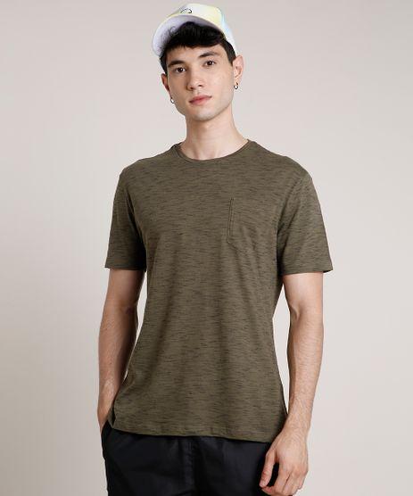 Camiseta-Masculina-Basica-com-Bolso-Manga-Curta-Gola-Careca-Verde-Militar-9733161-Verde_Militar_1