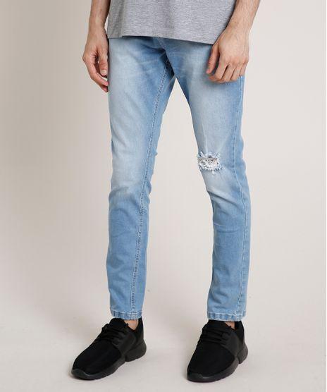 Calca-Jeans-Masculina-Carrot-com-Rasgos-Azul-Claro-9773518-Azul_Claro_1