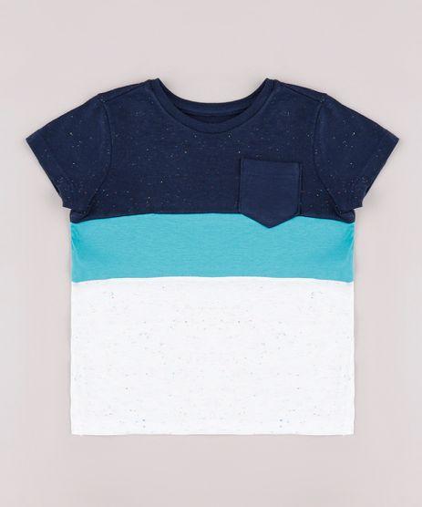 Camiseta-Infantil-com-Recortes-e-Bolsos-Manga-Curta-Azul-Marinho-9735166-Azul_Marinho_1