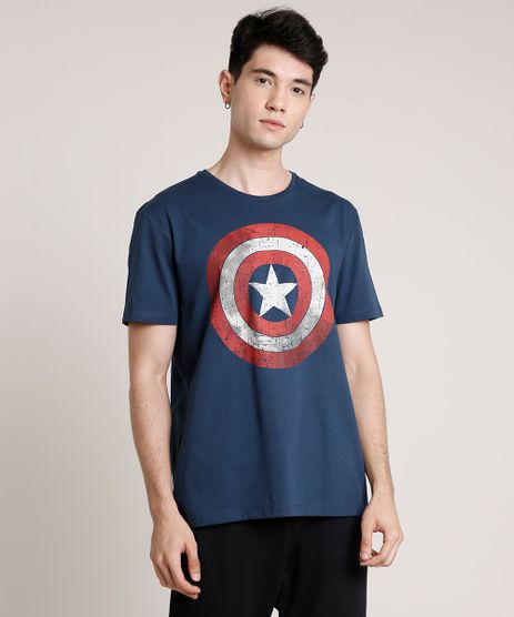 Camiseta-Masculina-Capitao-America-Manga-Curta-Gola-Careca-Azul-Marinho-9727009-Azul_Marinho_1