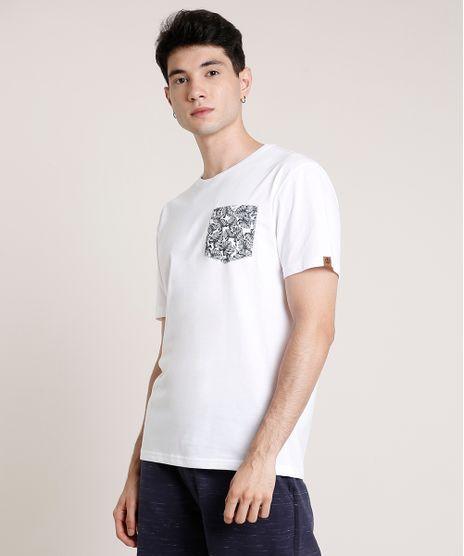 Camiseta-Masculina-com-Bolso-Estampado-de-Folhagem-Manga-Curta-Gola-Careca-Off-White-9720313-Off_White_1