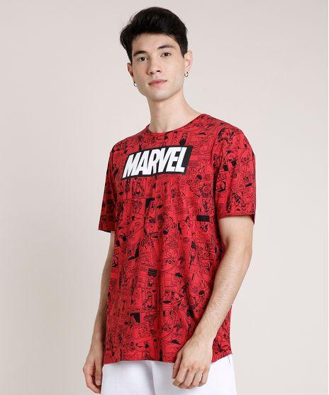 Camiseta-Masculina-Marvel-Estampada-de-Quadrinhos-Manga-Curta-Gola-Careca-Vermelha-9719805-Vermelho_1