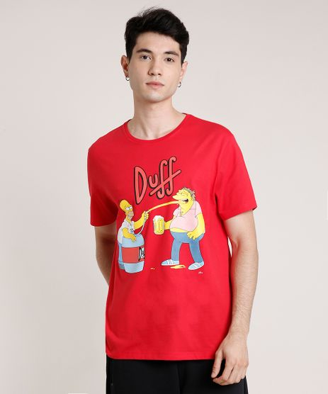 Camiseta-Masculina-Duff-Os-Simpsons-Manga-Curta-Gola-Careca-Vermelha-9726998-Vermelho_1