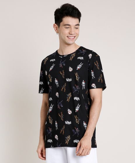 Camiseta-Masculina-Star-Wars-Estampada-Manga-Curta-Gola-Careca-Preta-9719885-Preto_1