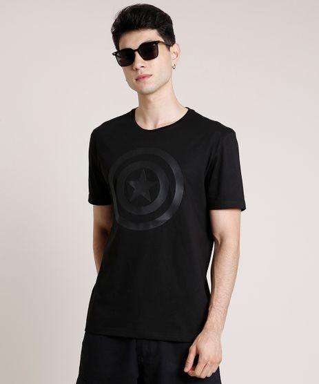 Camiseta-Masculina-Capitao-America-Manga-Curta-Gola-Careca-Preta-9726999-Preto_1