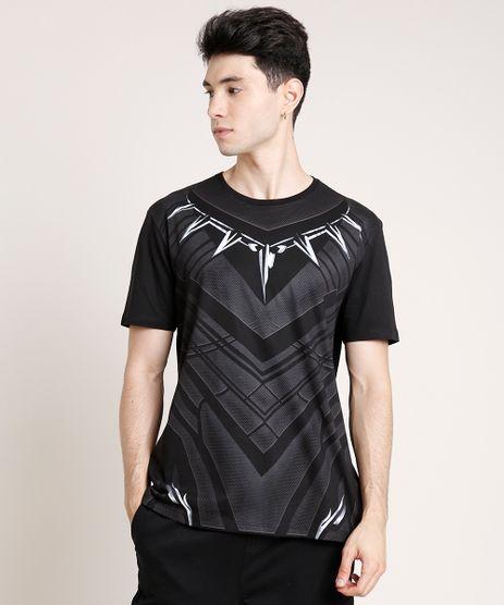 Camiseta-Masculina-Pantera-Negra-Manga-Curta-Gola-Careca-Preta-9719809-Preto_1